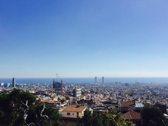 From the park, you have an amazing view over Barcelona!