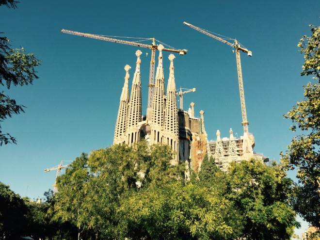 The Cathedral is still being under construction. I can remember this sight when I was in Barcelona over 10 years ago, but didn't expect the construction to continue for so long!
