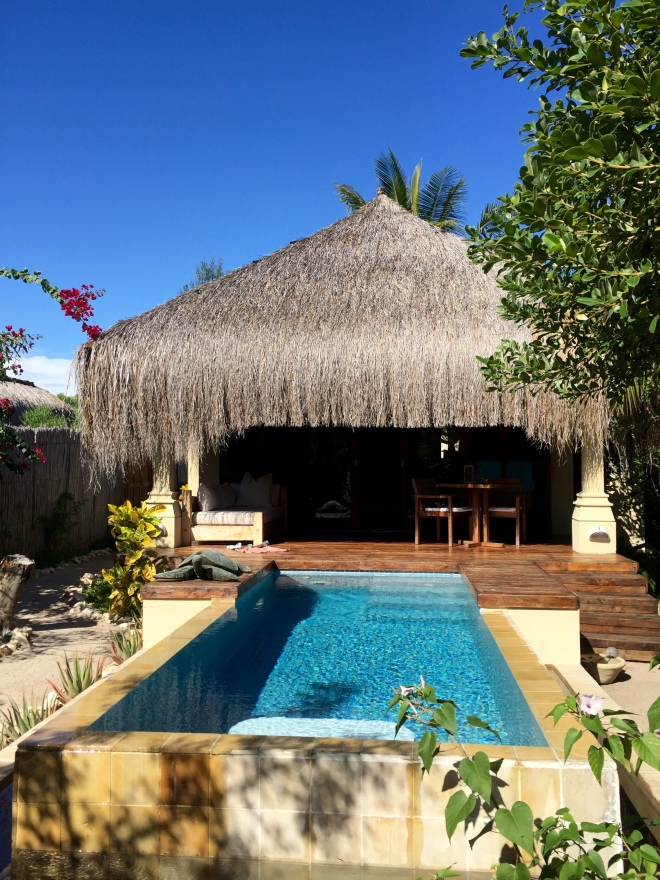 Our own Beach Villa, with our own private pool and cabana on the beach. True Paradise!