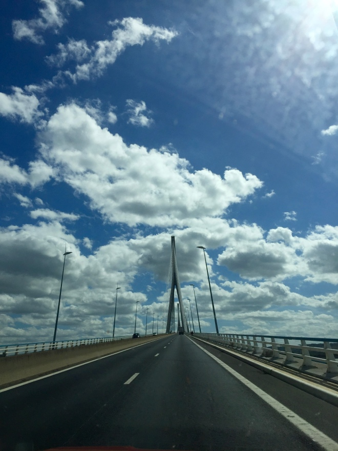 The Pont de Normandie is the bridge you drive over before reaching Honfleur. An amazing experience and beautiful construction!