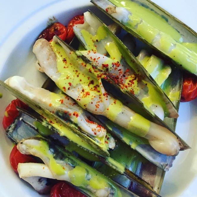 Beautiful colourful dishes at La Lieutenance