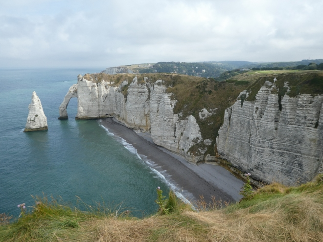 The famous cliffs in Etretat. You can walk endlessly here!
